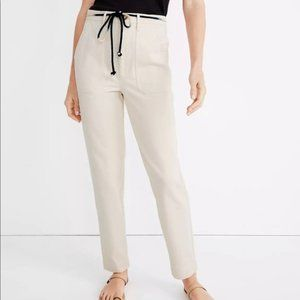 NWT Madewell dip dye tie cotton tapered leg pants